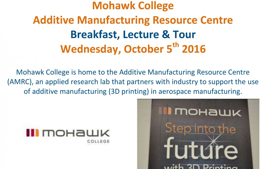 Breakfast & Tour Mohawk College AMRC