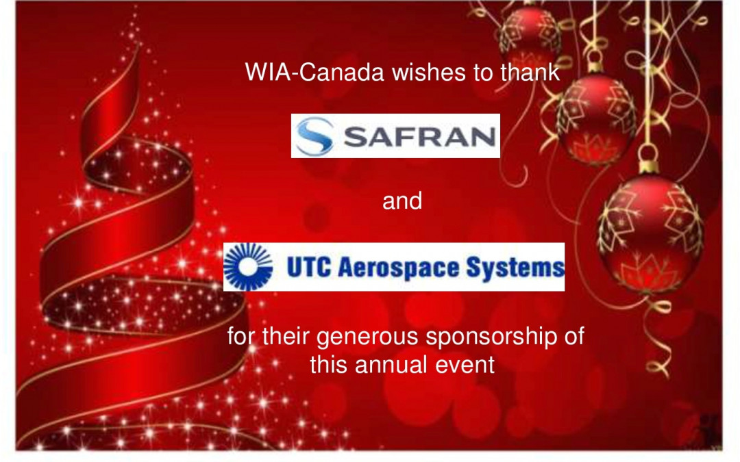 WIA Annual Christmas Party – December 5, 2018 – Tickets on Sale